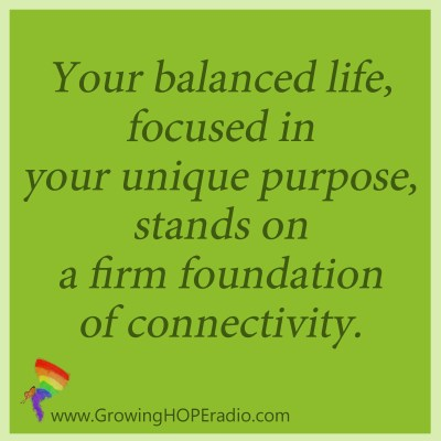 Growing HOPE Daily - quote - firm foundation of connections