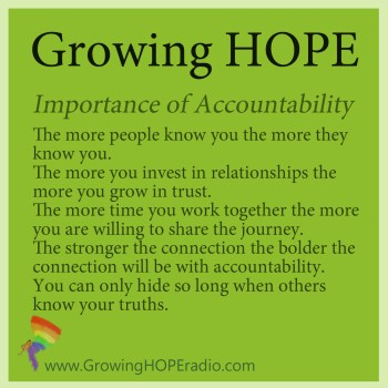 Growing HOPE Daily - 5 points for accountability