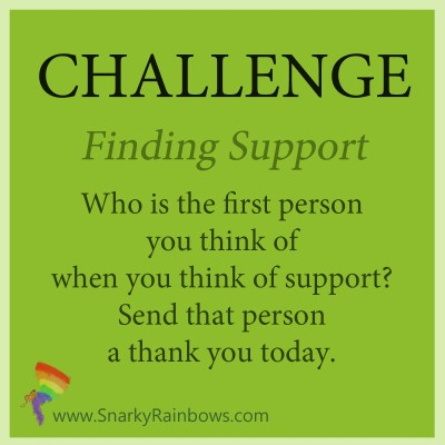 Challenge for Oct 18 - find support