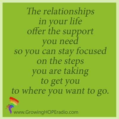 Growing HOPE quote supportive relationships