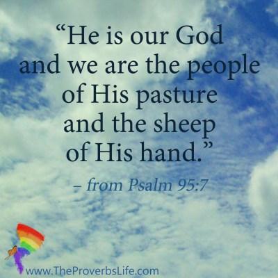 Scripture Focus Psalm 95:7