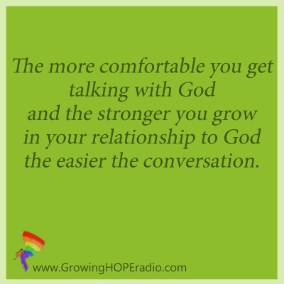 Growing HOPE Daily - quote - get comfortable