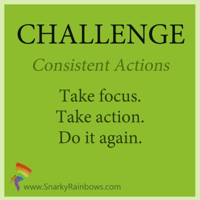 Challenge for October 24 - consistent action