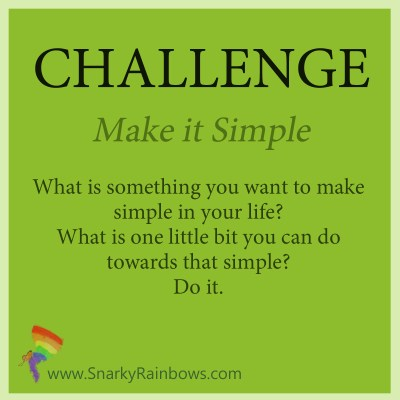 Challenge - October 25 - make it simple