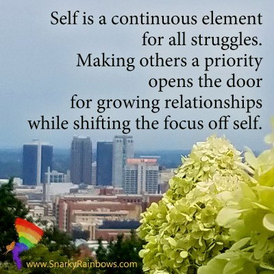 Growing HOPE Daily - quote - shift the focus off self