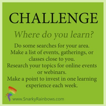 Daily Challenge - where do you learn