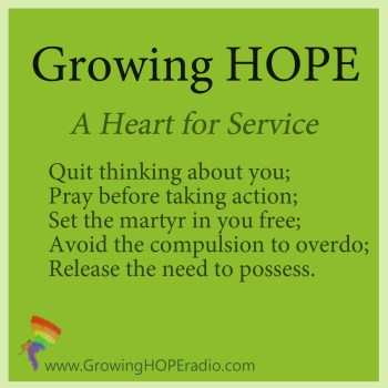 #GrowingHOPE Daily - 5 Points - A Heart for Service