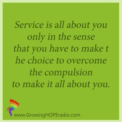 Growing HOPE Daily - quote - all about you