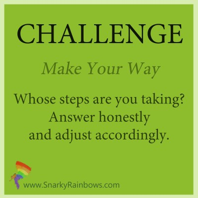 Challenge for October 31 - make your way