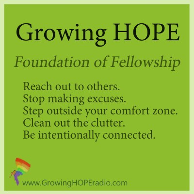#GrowingHOPE - 5 points - foundation of fellowship