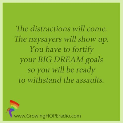Growing HOPE daily - quote - fortify your big dreams