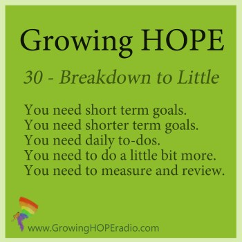 Growing HOPE daily - 5 points for little bits