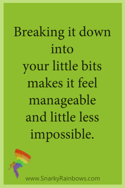 Growing HOPE daily quote - more manageable in little bits