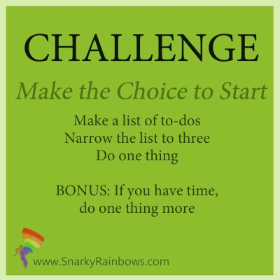 Challenge - make the choice