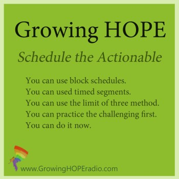 #GrowingHOPE 5 points - actionable steps