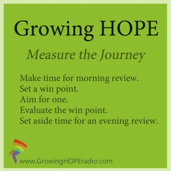 #GrowingHOPE Daily - five points to measure your journey