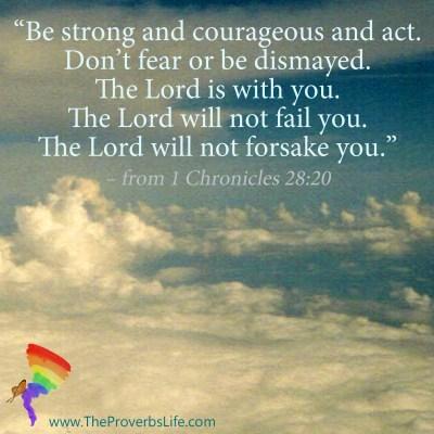 Scripture Focus 1 Chronicles 28:20