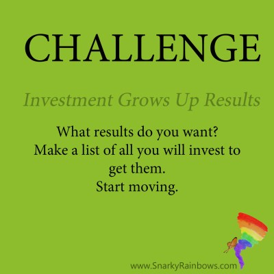 Daily Challenge for Nov 12 - invest in what you want