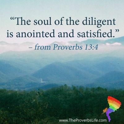 Scripture Focus Proverbs 13:4