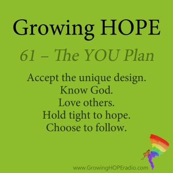 #GrowingHOPE Daily - 5 Points - The YOU Plan