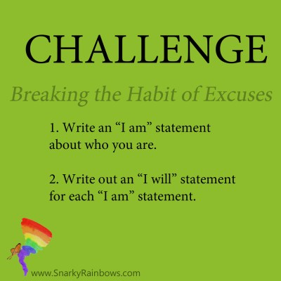 Daily Challenge for November 19 - habit of excuses