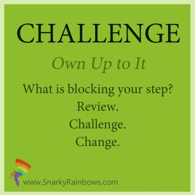 Challenge - November 2 - own up to it