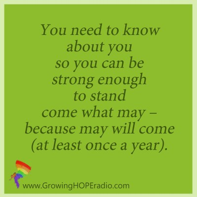 #GrowingHOPE Daily - quote - strong enough to stand