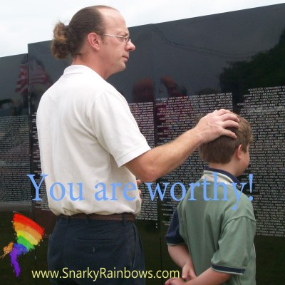 You matter and you are worthy - thoughts from Kathryn Lang at Snarky Rainbows