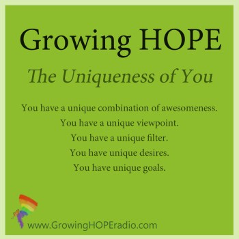 Growing HOPE Daily - 5 points- 56 – The Uniqueness of You