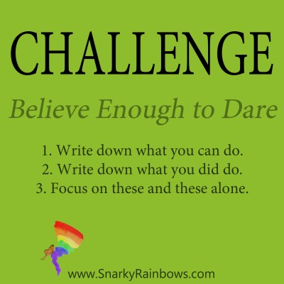 Daily Challenge - believe enough