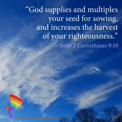Scripture Focus - 2 Corinthians 9:10