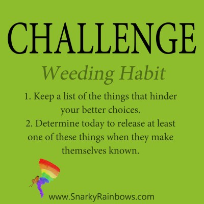 Daily Challenge for December 13 - weeding habit