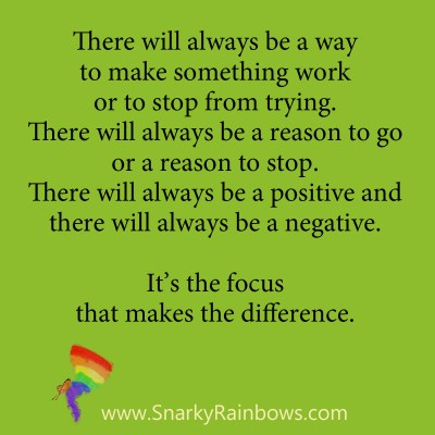 Growing HOPE Daily - quote - focus makes the difference