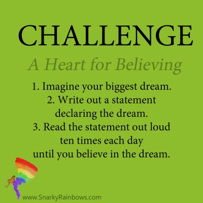 Daily Challenge for December 3, 2019 - heart for believing