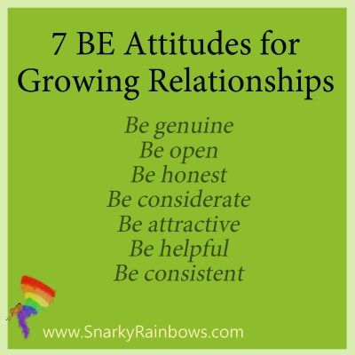 Be Attitudes for Growing Relationships