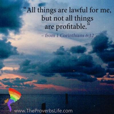 Scripture Focus - 1 Corinthians 6:12