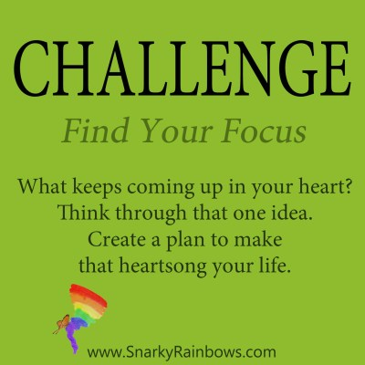 daily challenge - find your focus