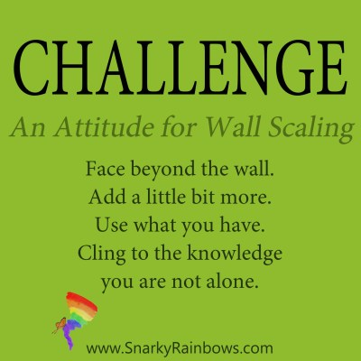 daily challenge - attitude for wall scaling