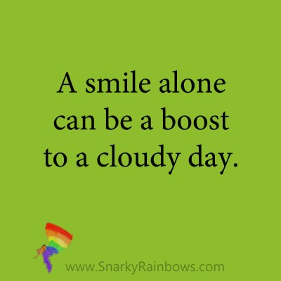 quote - power of a smile alone