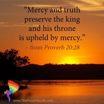 Scripture focus - proverb 20:28