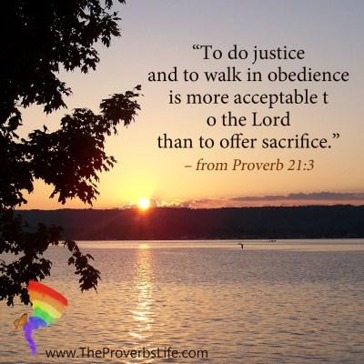 Scripture Focus - Proverb 21:3