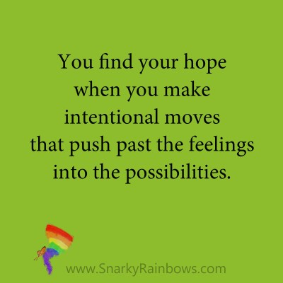 quote - push past the feelings