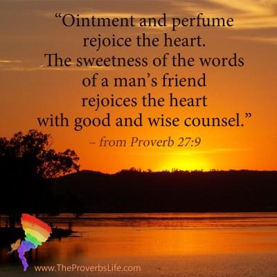 Scripture Focus - Proverb 27:9