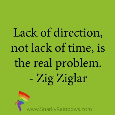 quote - zig ziglar - lack of direction