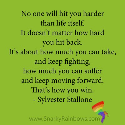 quote - sylvester stallone - how to win