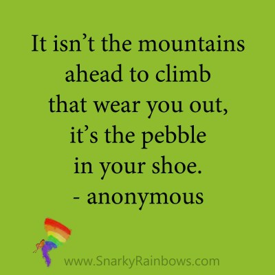 quote - anonymous - pebble in your shoe