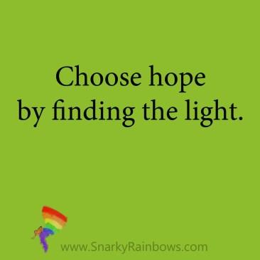 light shines so hope grows