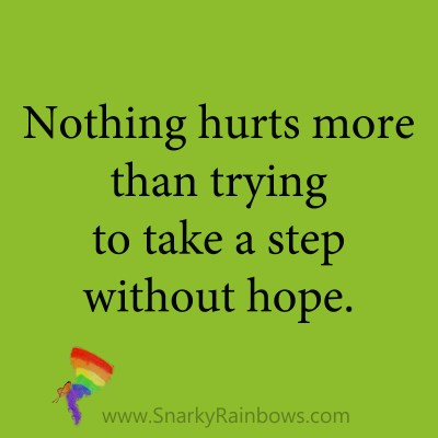 quote - step without hope