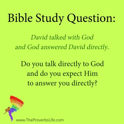 Bible Study Question - expect to hear from God