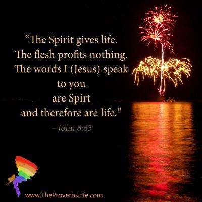 Scripture Focus - John 6:63